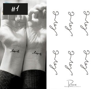 LOVE TATTOO ( 6X)
