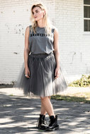 SHORT-TULLE-SKIRT-;-OVER-THE-TOP-DARK-GREY