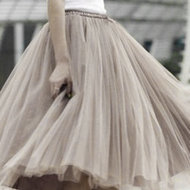 WOMEN-STYLE-CARRIE-:-SHORT-TULLE-SKIRT-;-SOFT-SMOOTH-TAUPE