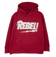 GIRLS-:-LONG-HOODED-SWEATER-REBEL-RED